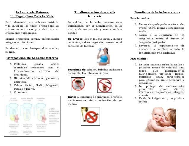 Triptico alimentacion madre ni o - Alimentos para producir leche materna ...