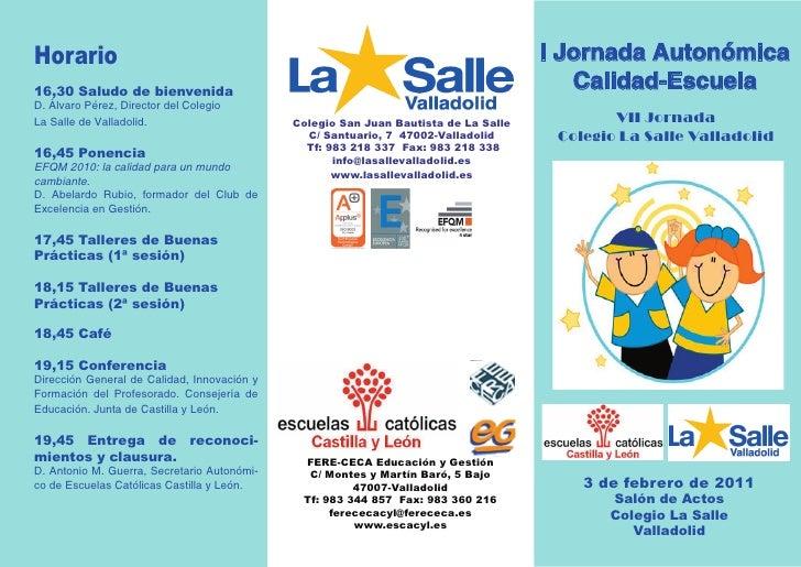 Horario                                                                              I Jornada Autonómica16,30 Saludo de b...