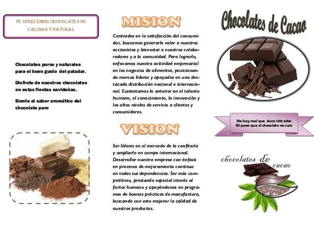 triptico chocolates