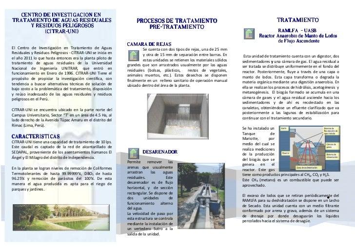 .   CENTRO DE INVESTIGACION ENTRATAMIENTO DE AGUAS RESIDUALES                                   PROCESOS DE TRATAMIENTO   ...