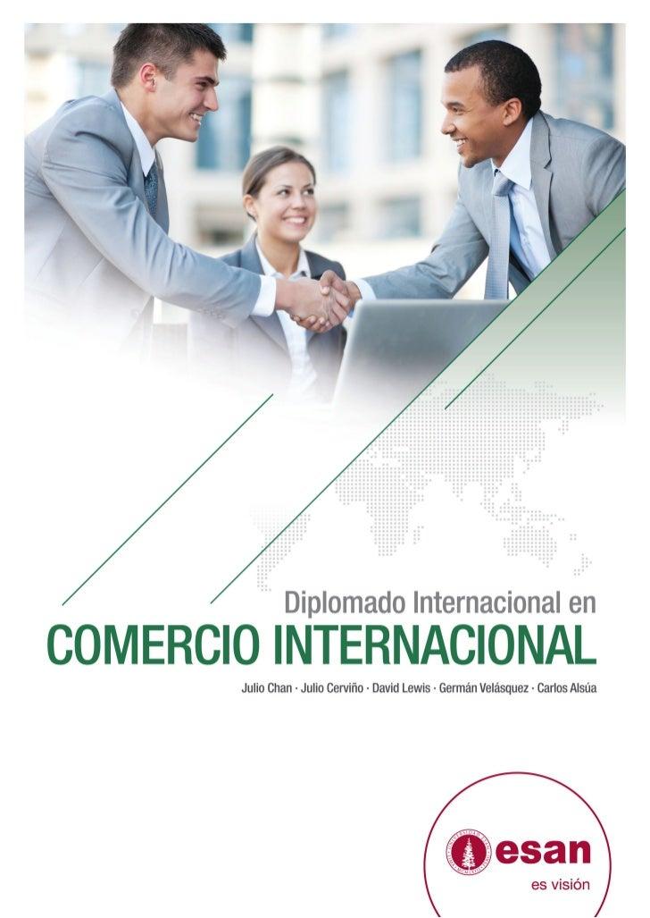 Tríptico Diplomado Internacional en Comercio Internacional