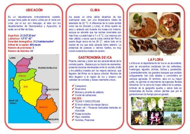 UBICACIÓN Es un departamento eminentemente costeño, aunque tiene parte de sierra. Limita por el norte con Lima: por el sur...