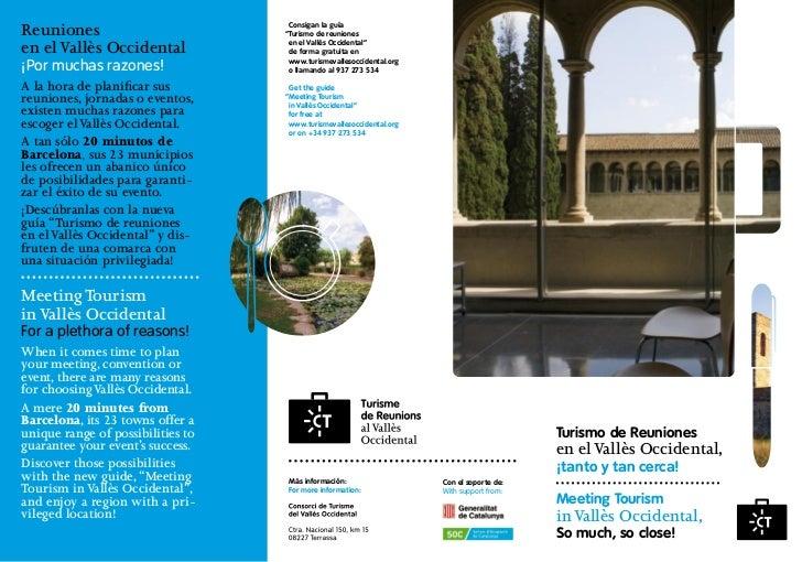 """Reuniones                           Consigan la guía                                   """"Turismo de reunionesen el Vallès O..."""