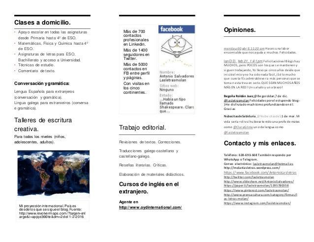 Clases a domicilio, correcciones, reseñas, traducciones. Slide 2