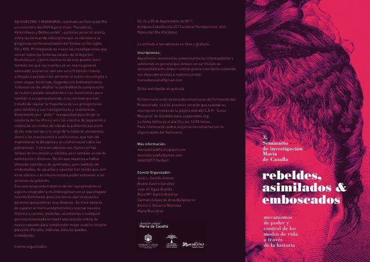 EN NUESTRO II SEMINARIO, celebrado en Palma del Río          23, 24 y 25 de Septiembre de 2011.en noviembre de 2009 bajo e...