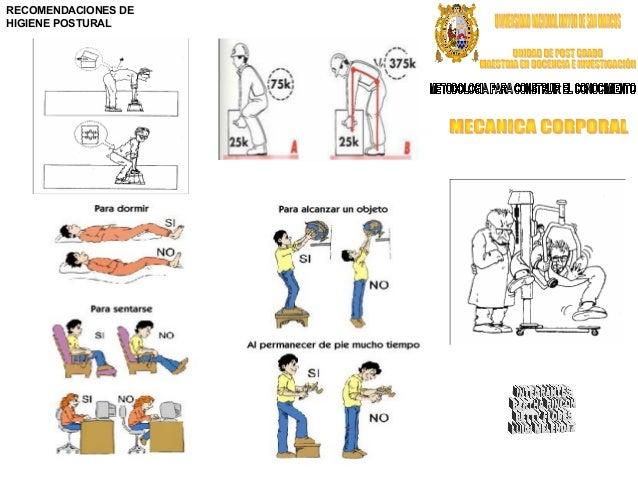 Triptico mecanica corporal for Recomendaciones ergonomicas para trabajo en oficina