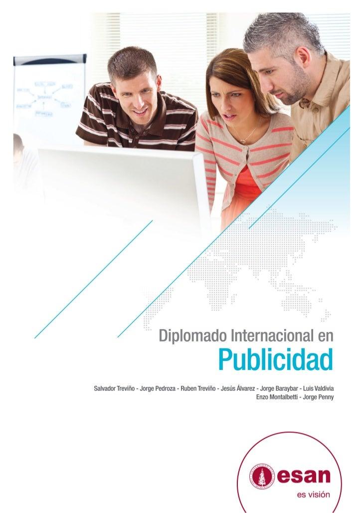 Tríptico Diplomado Internacional en Publicidad