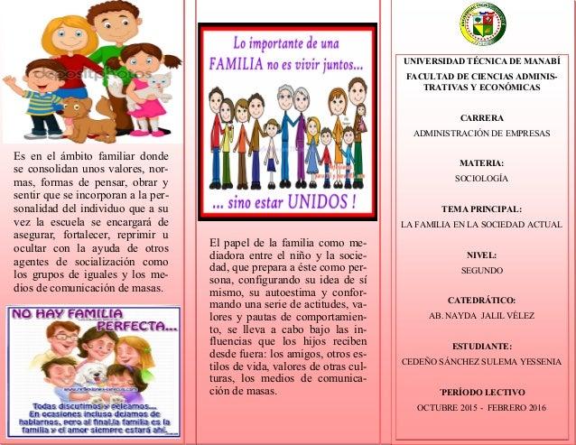 Triptico sociolog a enviar for Tipos de familia pdf