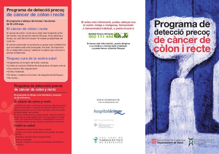 Programa de detecció precoçde càncer de còlon i recte                                                                     ...