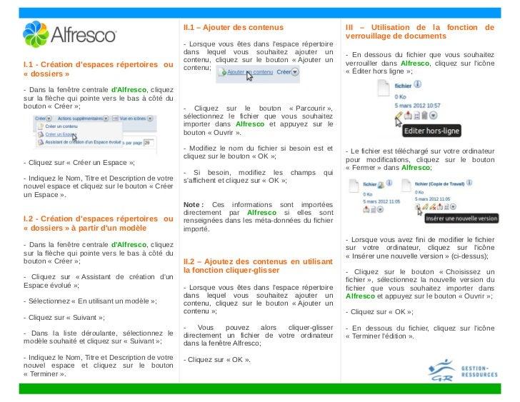 II.1 – Ajouter des contenus                      III – Utilisation de la fonction de                                      ...