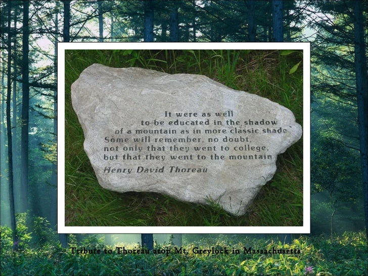Tribute to Thoreau atop Mt. Greylock in Massachusetts