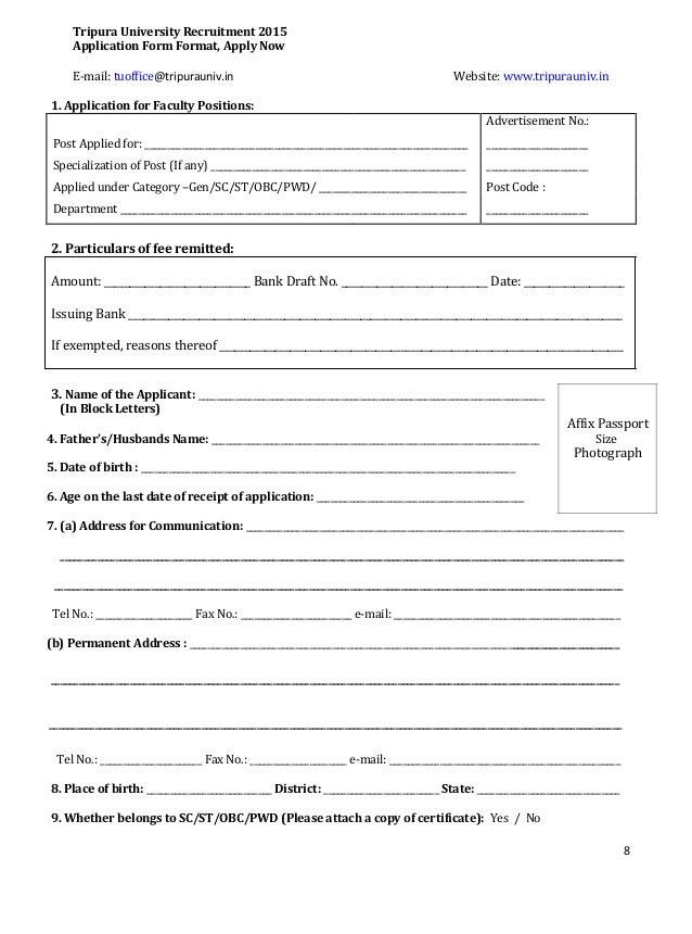 Format Of Application Form For Job Muckeenidesign
