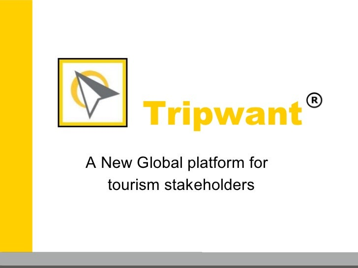 Tripwant A New Global platform for  tourism stakeholders