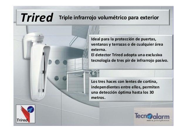 Trired Triple infrarrojo volumétrico para exterior Ideal para la protección de puertas, ventanas y terrazas o de cualquier...