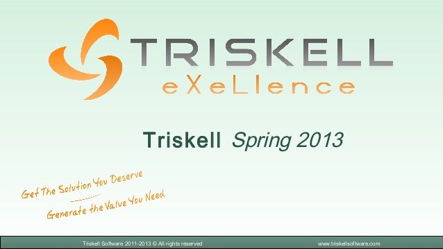 Triskell Spring 2013Triskell Software 2011-2013 © All rights reserved   www.triskellsoftware.com