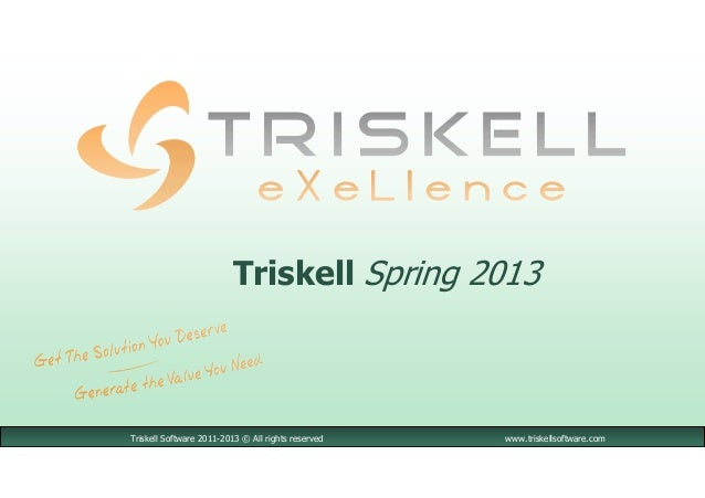 Triskell Software 2011-2013 © All rights reserved www.triskellsoftware.comTriskell Spring 2013