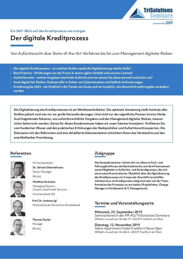 Die Digitalisierung des Kreditprozesses ist ein Wettbewerbsfaktor. Die optimale Umsetzung stellt Institute aller Größen je...