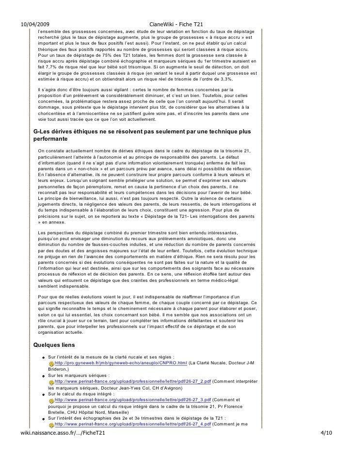 10/04/2009                                                 CianeWiki - Fiche T21       l'ensemble des grossesses concernée...