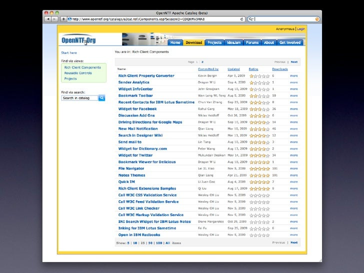 Openntf The Lotus Notes And Domino Open Source Organization