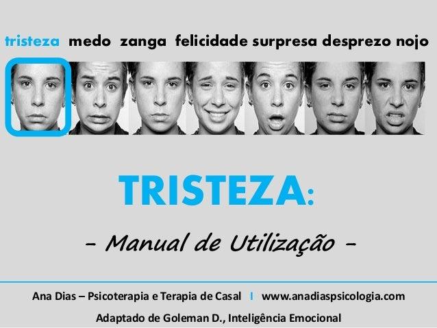 tristeza medo zanga felicidade surpresa desprezo nojo                   TRISTEZA:            - Manual de Utilização -   An...