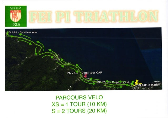 PARCOURS VELO XS = 1 TOUR (10 KM) S = 2 TOURS (20 KM) AS Fei.Fi t -rr-oi -'l | '*r-. I IIF IIII It 1ù.. ,rfltr .hlf rt tL....