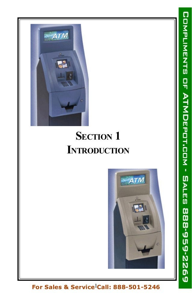 SECTION 1 INTRODUCTION 1For Sales & Service Call: 888-501-5246