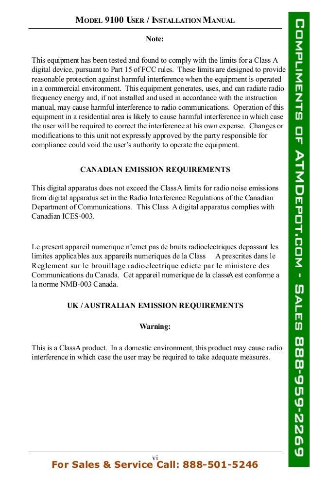 Triton 9100 atm owners manual 7 vi publicscrutiny Choice Image