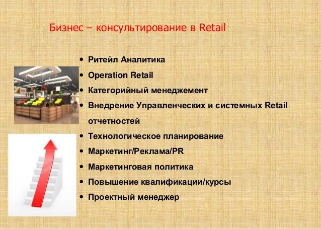  Ритейл Аналитика  Operation Retail  Категорийный менеджемент  Внедрение Управленческих и системных Retail отчетностей...