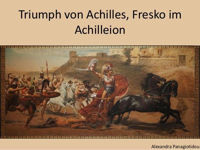 Triumph von Achilles, Fresko im Achilleion Alexandra Panagiotidou