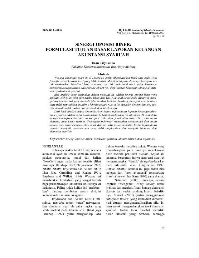 Triyuwono I 2003 Jurnal Internasional