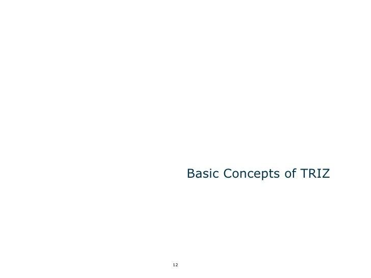 Basic Concepts of TRIZ