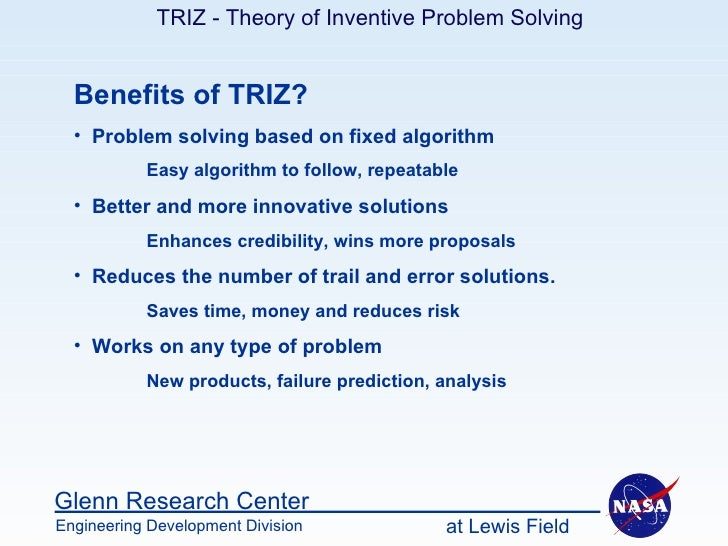 triz problem solving design of hammer Triz is the russian acronym for the theory of inventive problem solving triz: practical magic this july 2007 article from quality world introduces the principles and usefullness of triz in solving engineering problems.