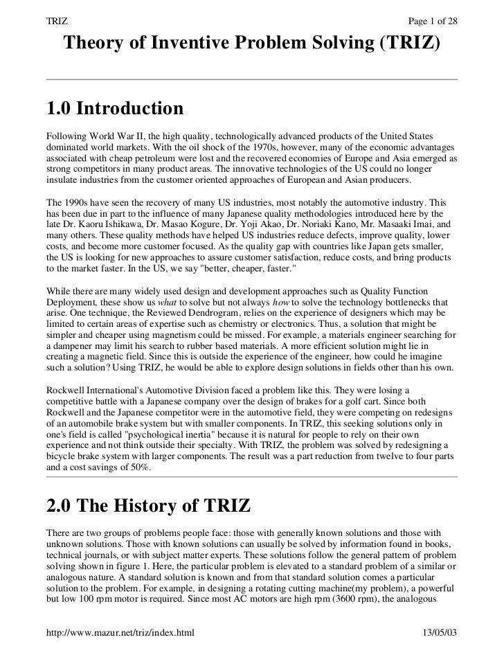 TRIZ                                                                                        Page 1 of 28    Theory of Inve...