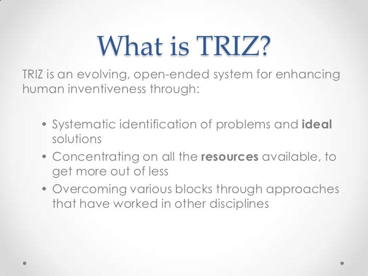 TRIZ overview and examples Slide 3