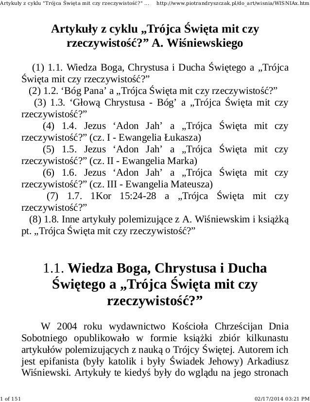 """Artykuły z cyklu """"Trójca Święta mit czy rzeczywistość?"""" ...  1 of 151  http://www.piotrandryszczak.pl/do_art/wisnia/WISNIA..."""