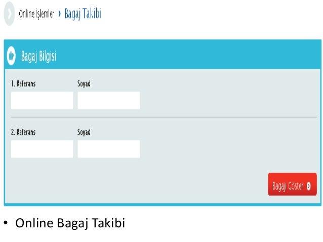 • Online Bagaj Takibi