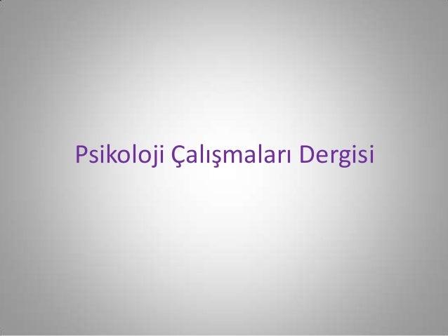 Türkiye'de psikiloji dergileri Slide 2