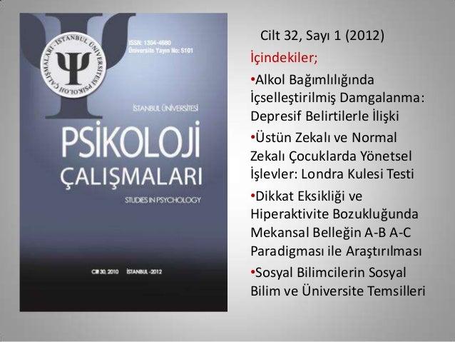 Türkiye'de psikiloji dergileri Slide 3