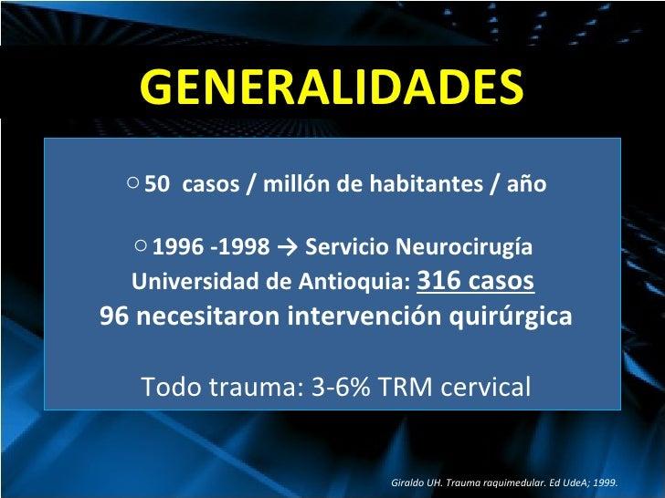 Trauma Raqui-medular Slide 2