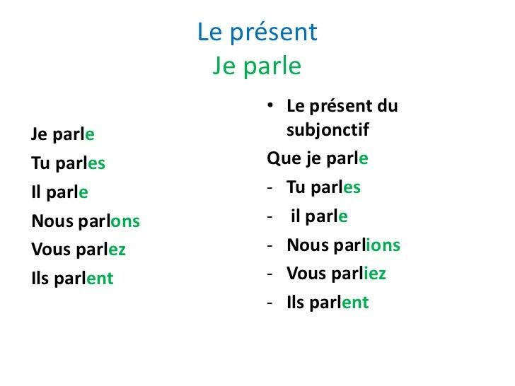 franske verber bøjning