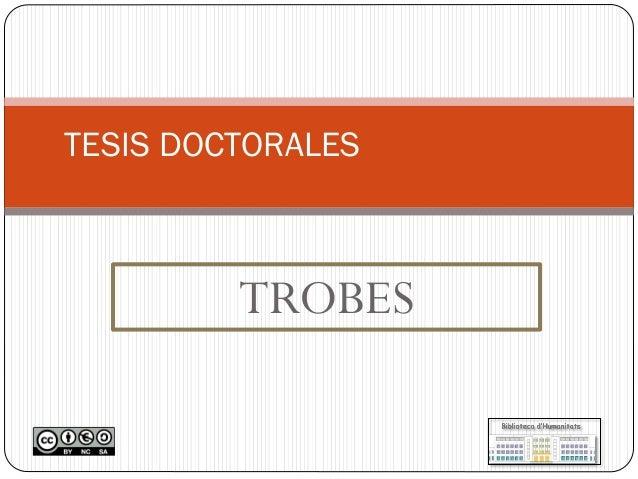 TROBES  TESIS DOCTORALES