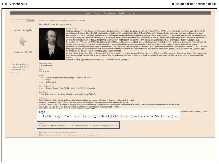 """Die """"Ausgabeseite"""" : Interne und Externe Verlinkung"""