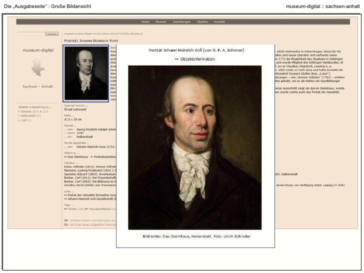 """Die """"Ausgabeseite"""" : Feedback-Funktion (wenn Museum es wünscht)"""