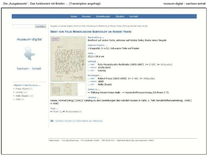 """Die """"Ausgabeseite"""" : Das funktioniert mit Archivalien …"""