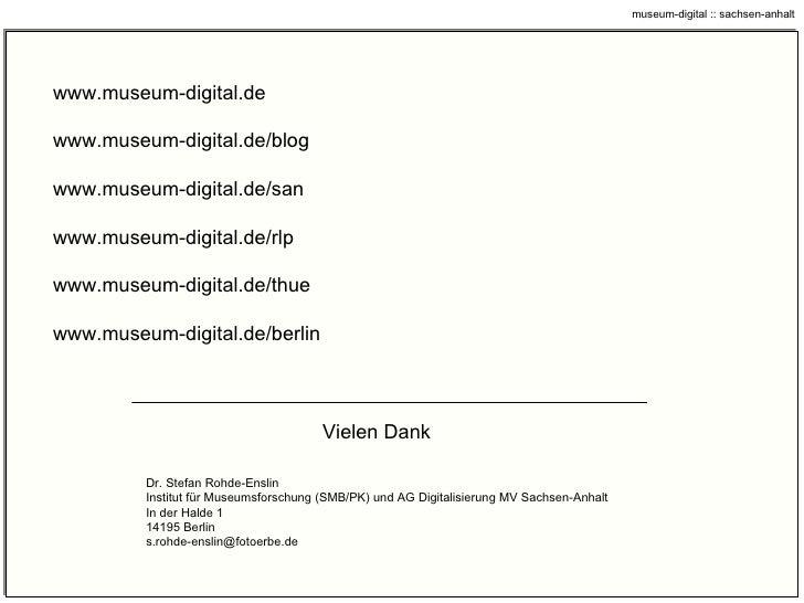 museum – digital oder: Gib anderen eine Chance, für Dich zu arbeiten!