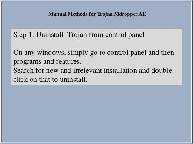 How to remove Trojan.Mdropper.AE