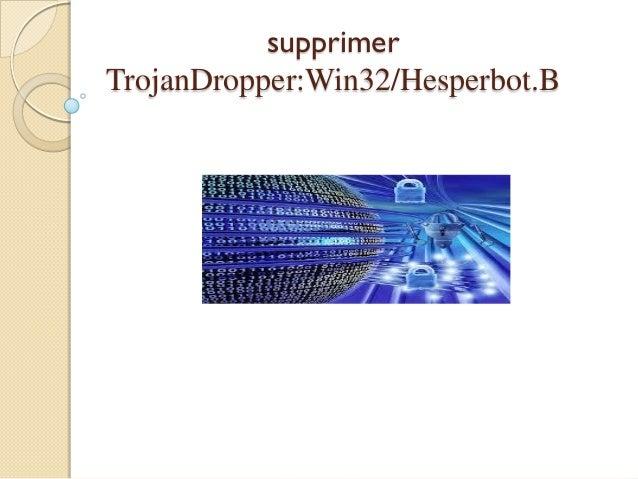 supprimer TrojanDropper:Win32/Hesperbot.B