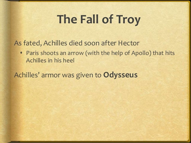 summary of the fall of troy mythology
