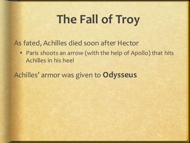 summary of the fall of troy mythology