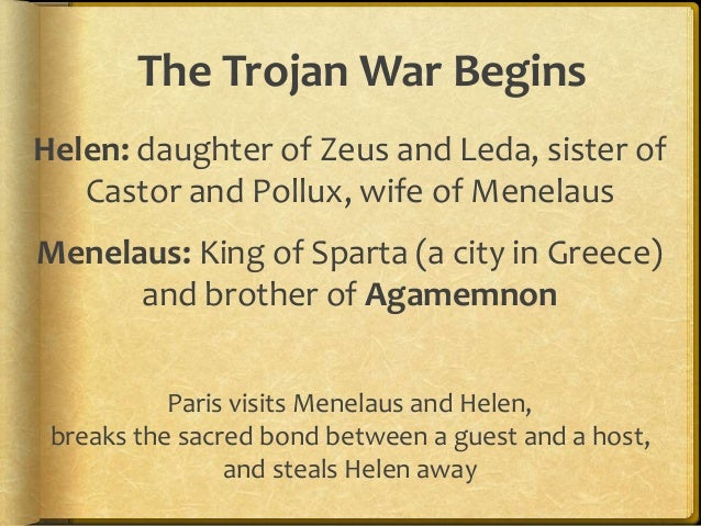 trojan war short summary